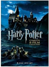Harry Potter:Complete 1-8 Film Collection (DVD,2011,8-Disc Box Set) Free Shippin