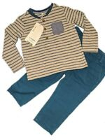 Baby Boy Smart Casual Jeans And Striped Long sleeve Top Blue Grey 3 6 9 12 18