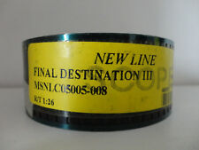 Final Destination III 2006 35mm movie trailer #1 collectible cells Scope 1:26min