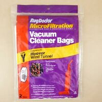 Rug Doctor 2 Bags Micro Filtration Vacuum Cleaner Bags Hoover Wind Tunnel Type Y