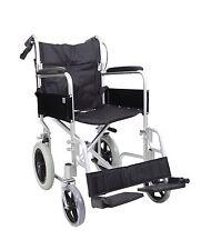 53100c22a4cf AMW004 Lightweight Aluminium Folding Transit Travel Wheelchair Weighs 11 KG