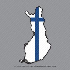Etiqueta engomada de la bandera de Finlandia Mapa-Coche-Laptop-Macbook Notebook - 2957
