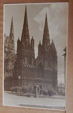 Postcard Lichfield Cathedral West Front Judges Card Posted