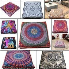 Mandala Design Beautiful Square Floor Cushion Cover 35 Inches Cotton Fabric Art