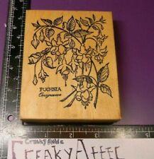 PSX K-1189 FUCHSIA FLOWER PLANT RUBBER STAMP RETIRED RARE CREAKYATTIC