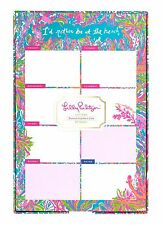 LILLY PULITZER LIST PAD SCUBA TO CUBA 60 Weekly Notes in Patterned Tray At Beach