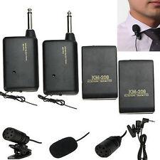 Speaker Mic System Wireless Lapel Clip FM Transmitter Receiver Mini Microphone