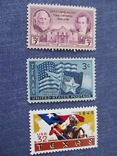 Texas  Commemorative Stamps (3)