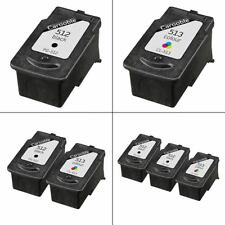 Canon PG-512 & CL-513 Ink Cartridges - Remanufactured - For Canon PIXMA Printers