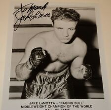 JAKE LaMOTTA / BOXER /   8 X 10  B&W  AUTOGRAPHED  PHOTO