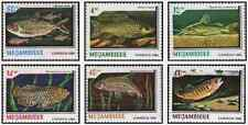 Timbres Poissons Mozambique 964/9 ** lot 18466