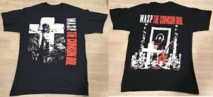 WASP Crimson Idol T Shirt Rare Backprint Heavy Metal Band Medium W.A.S.P. Rock
