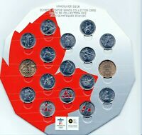 Canada 2010 Hexagon RCM Vancouver Olympic 17 Coin Set!!