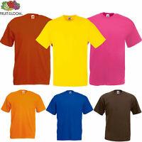 Fruit of the Loom Mens Plain Casual Cotton Original Tee Crew Neck Iconic T-Shirt