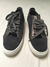 Bensimon ltd edn silver & grey suede low-top trainers sz 37/ UK 4 or 4.5, VGC