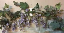 Homco Home Interiors Wisteria Lavender/purple Floral Flower Swag