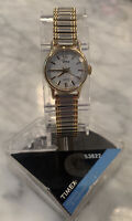 Timex Womens Elevated Classics Two-Tone Expansion Band Dress Watch - New!
