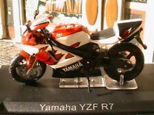 MOTO BIKE YAMAHA YZF R7 ROUGE & BLANCHE SCALE 1/24 NEW