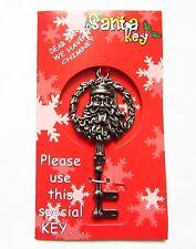 Metal Santa Key Magic No Chimney  Stop HereFather Christmas Xmas Gift Decoration