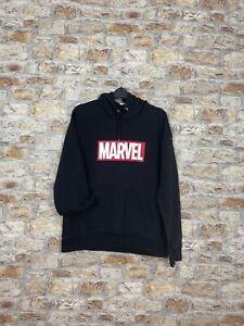 Vintage 90's graphic print black Marvel Comic sweatshirt hoodie mens large #32