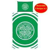 NUOVO Celtic F.C.FOOTBALL CLUB UFFICIALE SINGOLO Set copripiumino