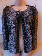 Gorgeous little browny coloured furry hip length jacket from Next size 12