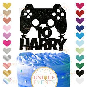 Gaming custom cake topper gamer male boy remote control floss console custom