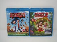 cloudy with a chance of meatballs 1 & 2 blu ray movie  lot family movies cartoon