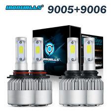 9005 9006 LED Headlight High Low Beam Bulbs 6000K White 1500W 225000LM Lights