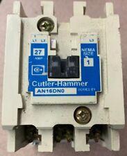 Very Nice CUTLER HAMMER AN16DN0 27 AMP NEMA Size 1 CONTACTOR Inspected Tested