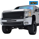 Eag Fit 07-10 Chevy Silverado 2500hd Rivet Grille Black Steel Mesh Replacement