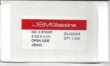 "Box of 1000 NEW JBM #3 Glassine Envelopes 2-1/2"" x 4-1/4"" FREE U.S. SHIPPING"