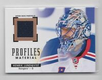 2015-16 UD Portfolio Profiles Game Used Henrik Lundqvist
