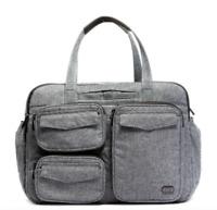 NEW! LUG Bag PJ Duffel Heather Grey OVERNIGHT Sac De Voyage Puddle Jumper TRAVEL