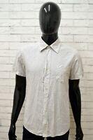 Camicia SUNDEK Uomo Taglia Size S Maglia Chemise Shirt Man Cotone a Righe Slim