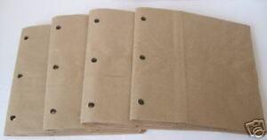 7x7 SEWN paper bag scrapbook albums journal book sewn bindings 3 holes 4 books
