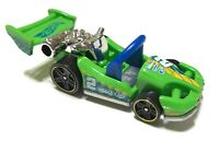 Hot Wheels Let's Go Car 2013 Green 5-Spoke Wheel - Loose