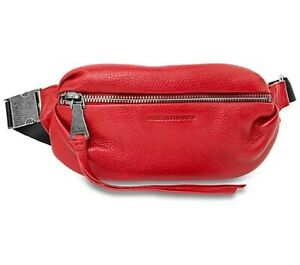 NWT Aimee Kestenberg Womens Leather Belt Bag Fanny Travel Pack CHERRY RED