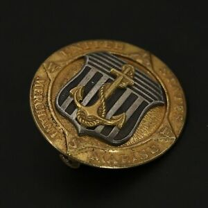 Sterling Silver - United States Merchant Marine Medal Gold Lapel Pin - 7.5g