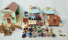 Maple Town Vtg School Doctors Office Ice Cream Shop Characters Train HUGE LOT