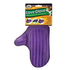 Cat Hair Fur Remover Massager Deshedder Grooming Mitt Four Paws Love Glove