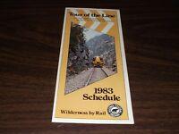 1983 ALGOMA CENTRAL RAILWAY PUBLIC TIMETABLE