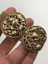 Rare Jugendstil Antique Bracelet Old Czechoslovakia Signed Sterling Sl Gold Over