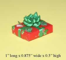 Christmas Gifts with Fancy Silk Bow & Gift Tag 1:12 Scale Dollhouse Miniatures