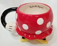 MINNIE MOUSE DISNEY CERAMIC PARTS BOTTOM DRESS COFFEE TEA MUG CUP ARM POLKA DOT