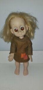 "Vintage 1965 Hasbro ""Little Miss No Name"" Doll Original Dress Undies & Teardrop"