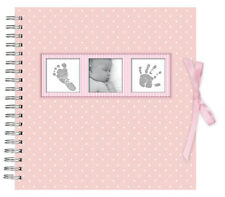 "6x Baby Polka Dot Spiral Scrapbook Photo Album Pink 25x 10x10"" Sheets Wholesale"