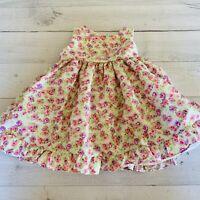 Marmellata Infant Girls Pink Floral Sash Dress 6-9M