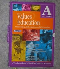 TEACHING VALUES Kit 2 Books and Poster Book A Ages 6-7 Self Esteem etc