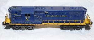 Lionel O-Scale #2365 C&O GP-7 Diesel Engine Working Order